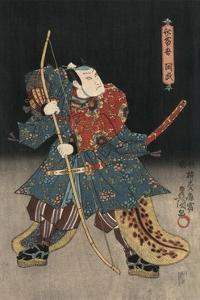 An Actor in the Role of Saitogo Kunitake by Utagawa Kunisada