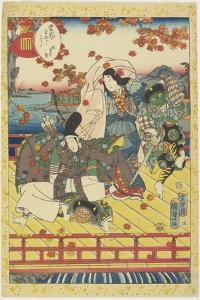 Celebration for the Turning Color of Maple Leaves, January 1857 by Utagawa Kunisada