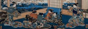 Couple Looking in Mirror by Utagawa Kunisada