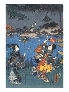 Firefly Hunting by Utagawa Kunisada