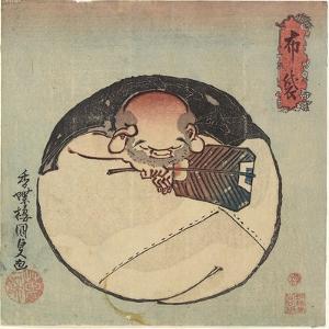 Hotei God, C. 1830-1844 by Utagawa Kunisada