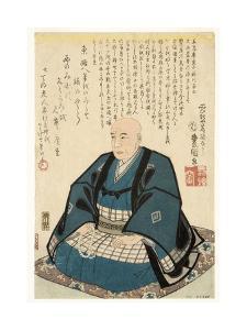 Memorial Portrait of Utagawa Hiroshige, 1858 by Utagawa Kunisada