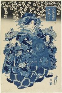 One of the Seven Beautiful Courtesans of the Ebiya House, C. 1808-1829 by Utagawa Kunisada