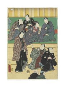 Rehearsal of a Kabuki Play, September 1860 by Utagawa Kunisada