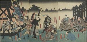 Scene of the Kabuki Play Based on the Yaoya Oshichi Story, 1847-1852 by Utagawa Kunisada