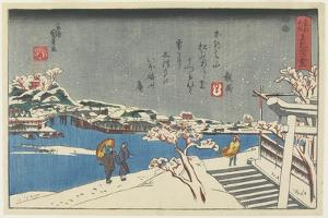Snow at Matsuchi Hill, 1847-1852 by Utagawa Kunisada