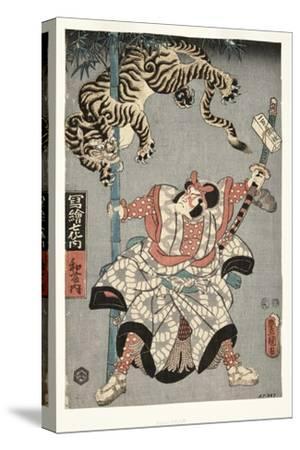 The Actor Onoe Waichi II as Watonai, 1857