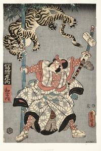 The Actor Onoe Waichi II as Watonai, 1857 by Utagawa Kunisada