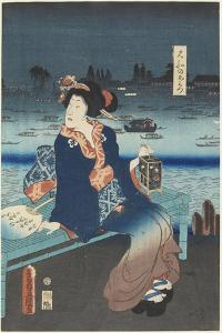 The Courtesan Omitsu of the Yamato House, April 1862 by Utagawa Kunisada
