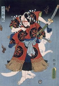 The Warrior (Colour Woodblock Print) by Utagawa Kunisada