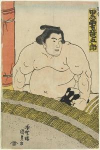 The Wrestler Kurokumo Tatsugoro of the Higo Stable, 1830-1844 by Utagawa Kunisada