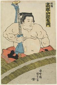 The Wrestler Takaneyama Seiemon of the Higo Stable, 1830-1844 by Utagawa Kunisada