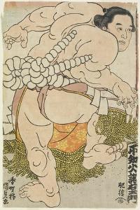 The Yokozuna Wrestler Shiranui Dakuemon of the Higo Stable, 1830-1844 by Utagawa Kunisada
