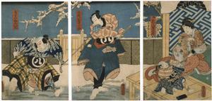 Theatre Scene, 1844 by Utagawa Kunisada