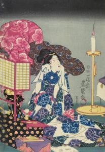 Woman at Her Toilet by Utagawa Kunisada