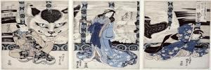 Yatsuhashi at Okasaki, Tokaido Gojusan Eki No Uchi, The 53 Stations of Tokaido, c.1835 by Utagawa Kunisada