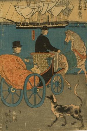 Americans Enjoying Sunday in Yokohama, 1861 by Utagawa Sadahide