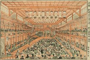 Perspective Picture of a Kabuki Theater (Uki-E Kabuki Shibai No Zu), C.1776 by Utagawa Toyoharu