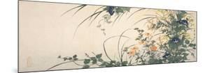 Design of Morning Glories, Dianthus, and Other Flowers by Utagawa Toyohiro