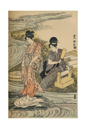 'Washing Linen', c1800