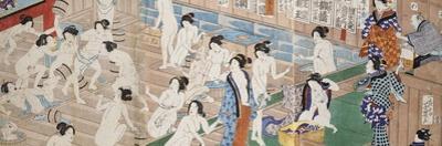 A Scene Inside a Bath House with Quarrelling Women