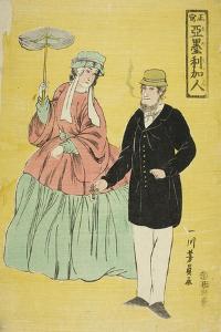 Americans Drawn from Life (Sho Utsushi Amerikajin), 1861 by Utagawa Yoshikazu