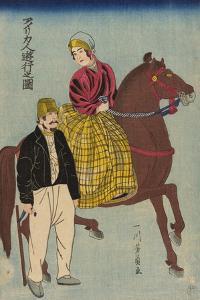 Americans on an Outing (Amerikajin Yuko No Zu), 1860 by Utagawa Yoshikazu