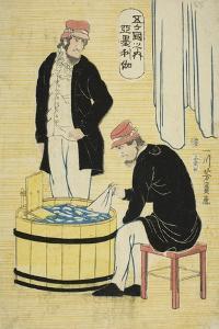 Among the Five Nations: Americans (Gokakoku No Uchi, Amerikajin), 1861 by Utagawa Yoshikazu
