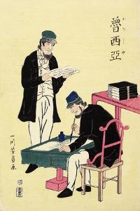 Russians, February 1861 by Utagawa Yoshikazu