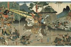 Battle, from the Series '47 Faithful Samurai, 1850-1880-Utagawa Yoshitora-Giclee Print