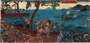 Yashima Dannoura Kassen by Utagawa Yoshitora