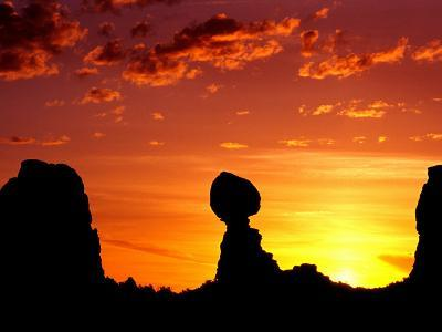 Utah, Arches National Park, Balanced Rock-Russell Burden-Photographic Print