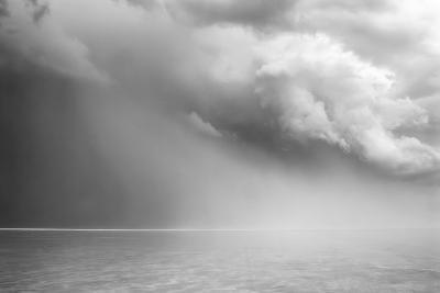Utah. Foreboding Approaching Thunderstorm on Bonneville Salt Flats-Judith Zimmerman-Photographic Print
