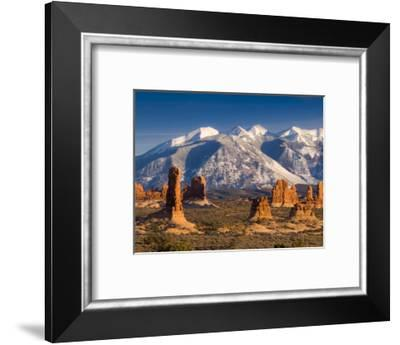Utah, La Sal Mountains from Arches National Park, USA-Alan Copson-Framed Photographic Print