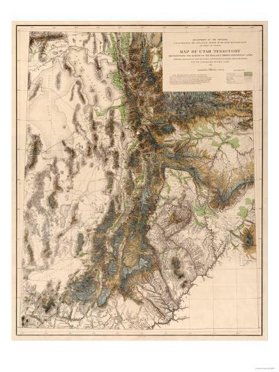 Utah - Panoramic Map-Lantern Press-Art Print