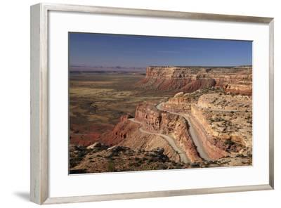 Utah, San Juan County, Moki Dugway Switchback Road, Cedar Mesa-David Wall-Framed Photographic Print