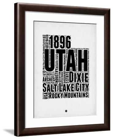Utah Word Cloud 2-NaxArt-Framed Art Print