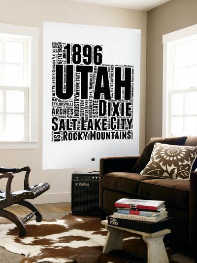 Utah Word Cloud 2-NaxArt-Wall Mural