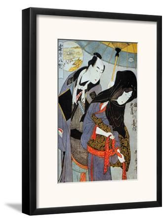 Utamaro: Lovers, 1797-Kitagawa Utamaro-Framed Giclee Print
