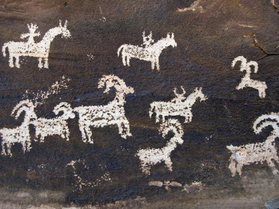 Ute Indian Petroglyphs-John Elk III-Photographic Print