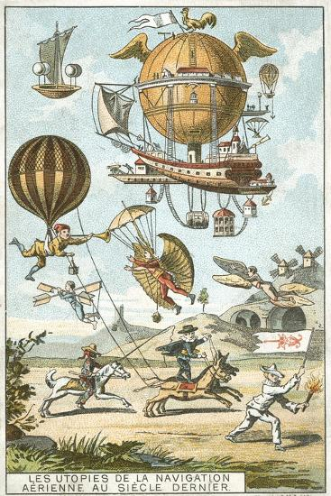 Utopias of Aerial Navigation in the Last Century--Giclee Print