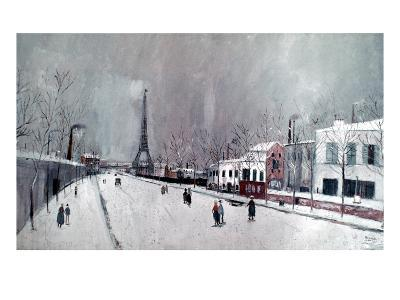 Utrillo: Eiffel Tower-Maurice Utrillo-Giclee Print