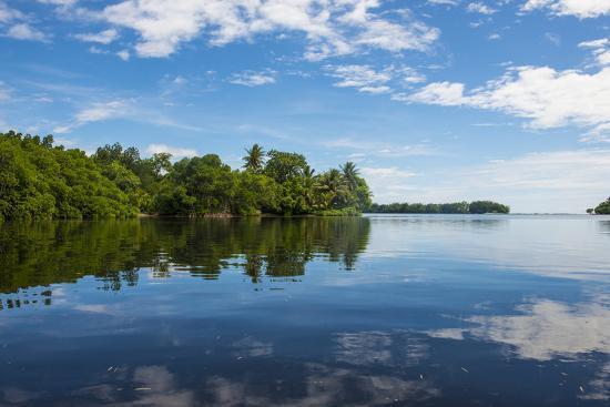 Utwe lagoon, UNESCO Biosphere Reserve, Kosrae, Federated States of Micronesia, South Pacific-Michael Runkel-Photographic Print
