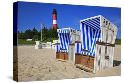 Entzuckend Sylt Beach Chairs With Lighthouse On The East Beach Of Hrnumuwe Steffens.
