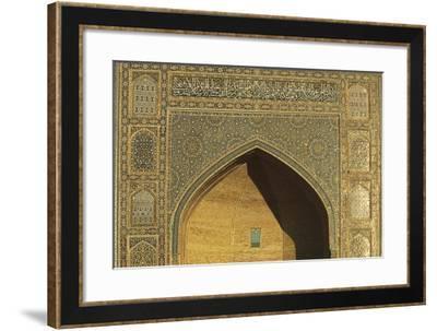 Uzbekistan, Buhara, Bukhara, Historic Centre, Mir-I Arab Madrasah, Facade--Framed Giclee Print