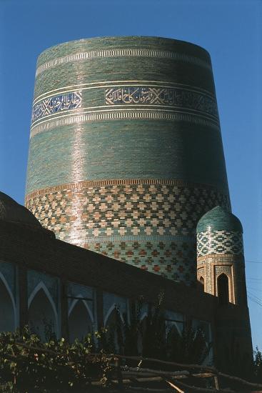 Uzbekistan, Khiva, Khiwa, Itchan Kala, Kalta Minor Minaret--Giclee Print
