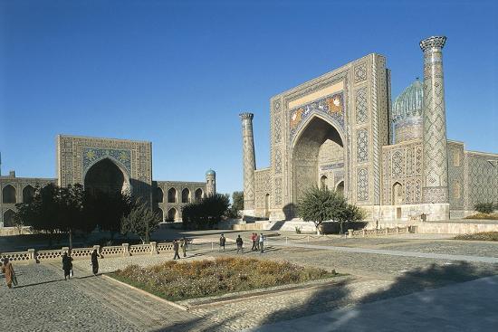 Uzbekistan, Samarkand, Registan Square--Giclee Print