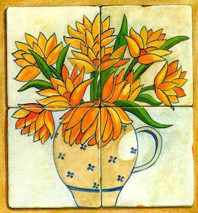 Jarras con Flores I