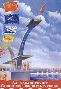 Long Live the Soviet Athletes!, 1947 by V.G. Khrapovitsky