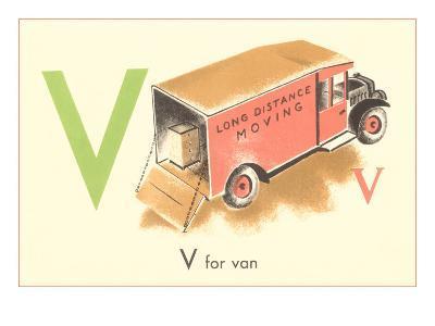 V is for Van--Art Print